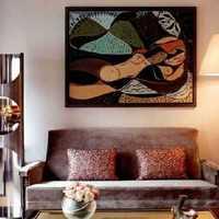 客厅沙发壁画背景墙装修效果图