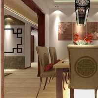 美式别墅餐厅厨房一体式装修效果图
