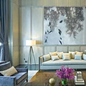 美式風格三居室實用90平米效果圖
