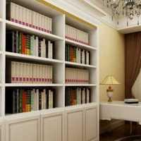 书架120平米书房简洁装修效果图