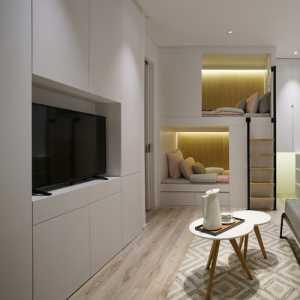 小户型现代简约白色背景墙客厅70平米以下
