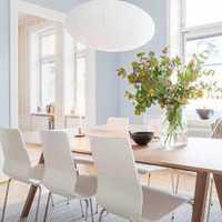时尚富裕型灯具餐厅背景墙装修效果图
