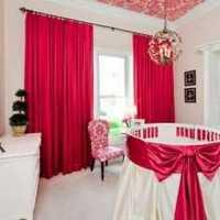大紅色臥室床上用品效果圖