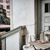 阳台哑口通透型展示柜装修效果图