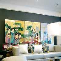 茶几沙发电视背景墙背景墙装修效果图