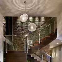 现代别墅玻璃楼梯装修效果图