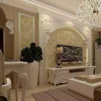 欧式客厅春色地台装修效果图