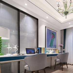 美式风格卧室飘窗装饰效果图
