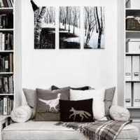 客厅布艺沙发靠垫装修效果图