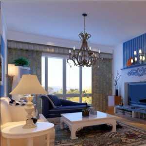 110平米爱琴海的蓝打造清新家居