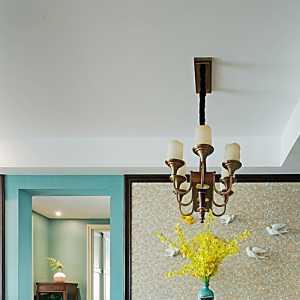 绿色墙纸客厅装修效果图