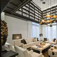 公寓經濟型120平米客廳沙發海外家居效果圖