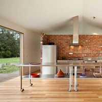 厨房现代复式楼瓷砖背景墙装修效果图