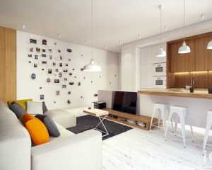 現代客廳實木家具燈具客廳裝飾畫效果圖