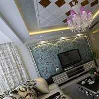 现代两室两厅墙面米白色装修效果图