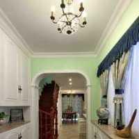 91-120平米三居室黄色北欧风厨房橱柜效果图