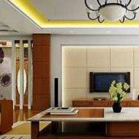 现代百叶窗式别墅起居室装修效果图
