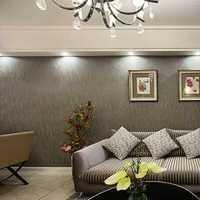 现代明快鲜亮别墅起居室装修效果图