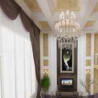 客厅吊顶带窗帘盒装修效果图