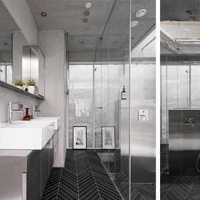 现代别墅晶莹剔透卫生间装修效果图