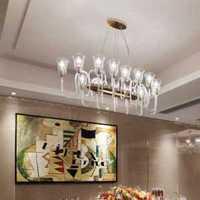 餐厅客厅卧室富裕型装修效果图