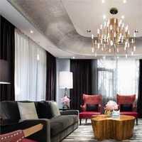 客厅背景墙沙发吸顶灯简约装修效果图