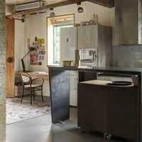 新古典别墅一层厨房装修效果图