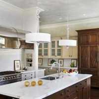 厨房灯具简约橱柜装修效果图