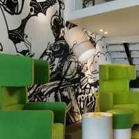 别墅客厅盆栽别墅现代家具装修效果图