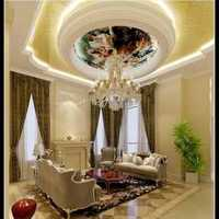 一層大客廳沙發背景墻壁紙裝修效果圖