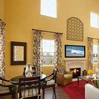 三居客厅客厅隔断新中式装修效果图