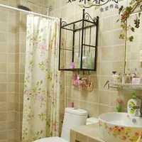 浴室柜洗手台卫生间田园装修效果图