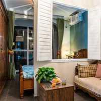 现代别墅书香起居室装修效果图