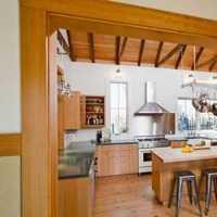 厨房二居简约实木橱柜装修效果图