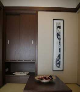 中式客廳玄關隔斷效果圖
