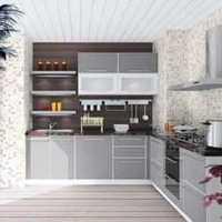 欧式新古典白色厨房装修效果图