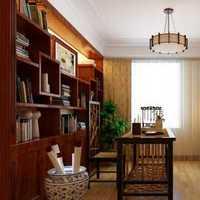 转角书柜灯具书房三居装修效果图