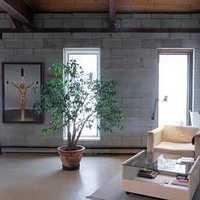 電視背景墻落地窗現代客廳裝修效果圖