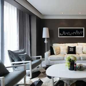 二居室现代简约风格130平米现代客厅效果图