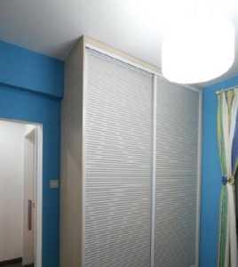 業之峰裝飾_裝修簡單色彩不簡單!簡約三居大紫+海藍+酷黑,創造119m2的精彩!_5