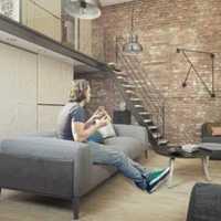简约四室四厅客厅背景墙装修效果图