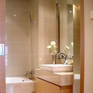 暖色调90-120平米现代简约三居室卫生间清新15-30万