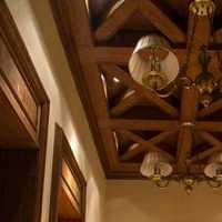 窗帘吊灯实木家具书房装修效果图