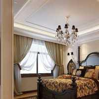 卧室卧室窗帘田园复式楼装修效果图