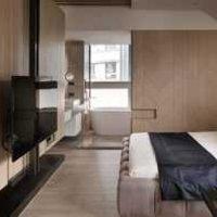 豪华卧室客厅一体装修效果图