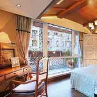 现代简约卧室双人窗帘装修效果图
