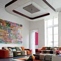 二居室现代简约窗帘客厅装修效果图