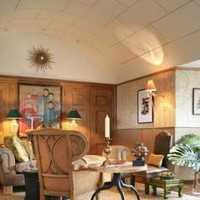 美式客廳實木沙發裝修效果圖