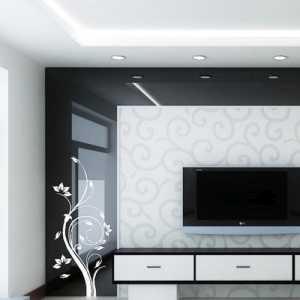 简单的一居电视背景墙装修效果图