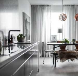 厨房三室一厅现代简约公寓餐厅